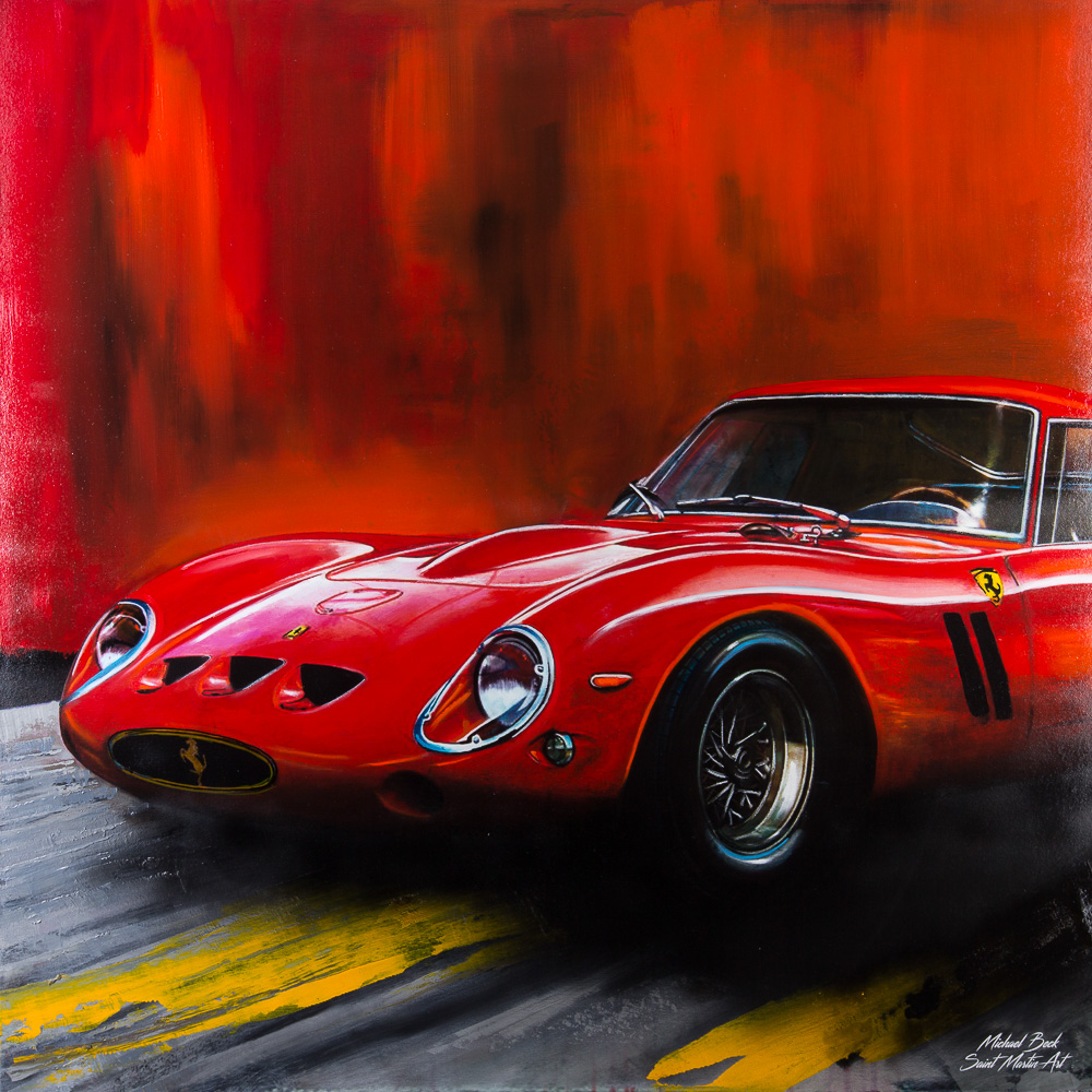 Oil painting Ferrari 250 GTO