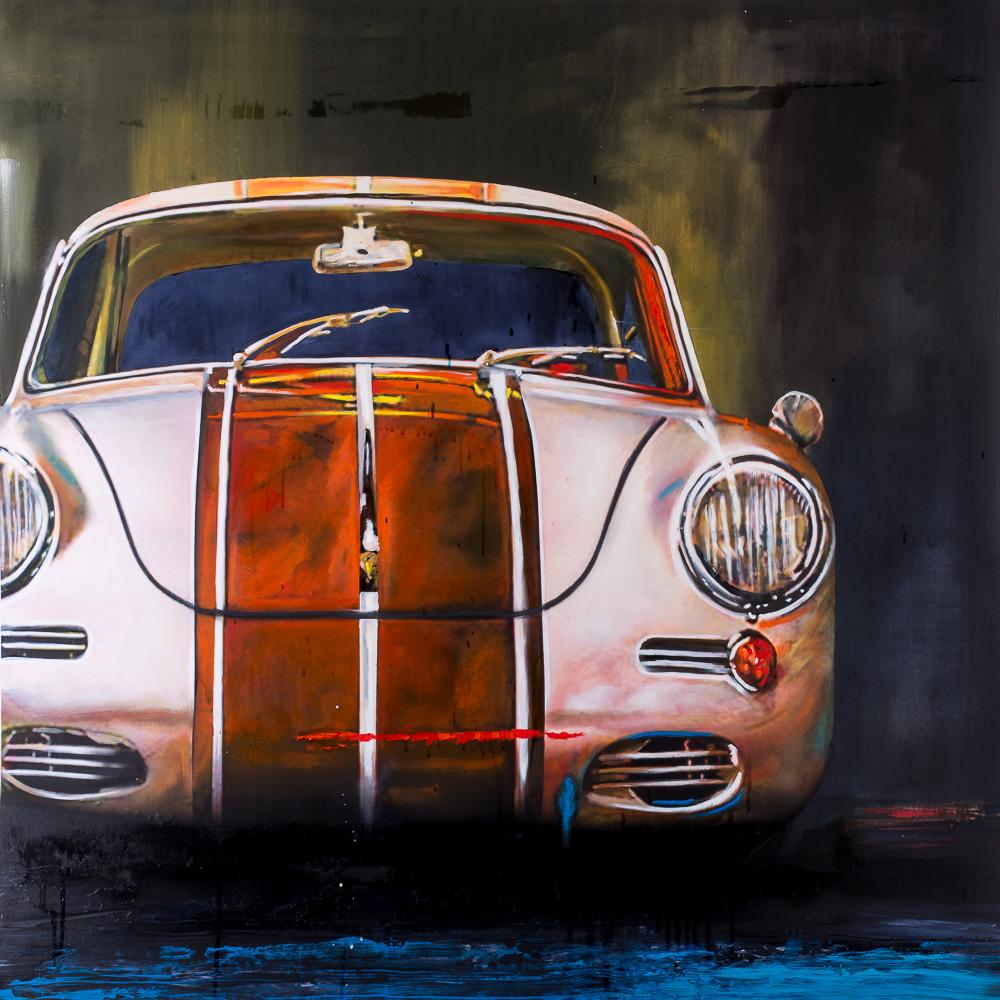 Oil painting Porsche 356B