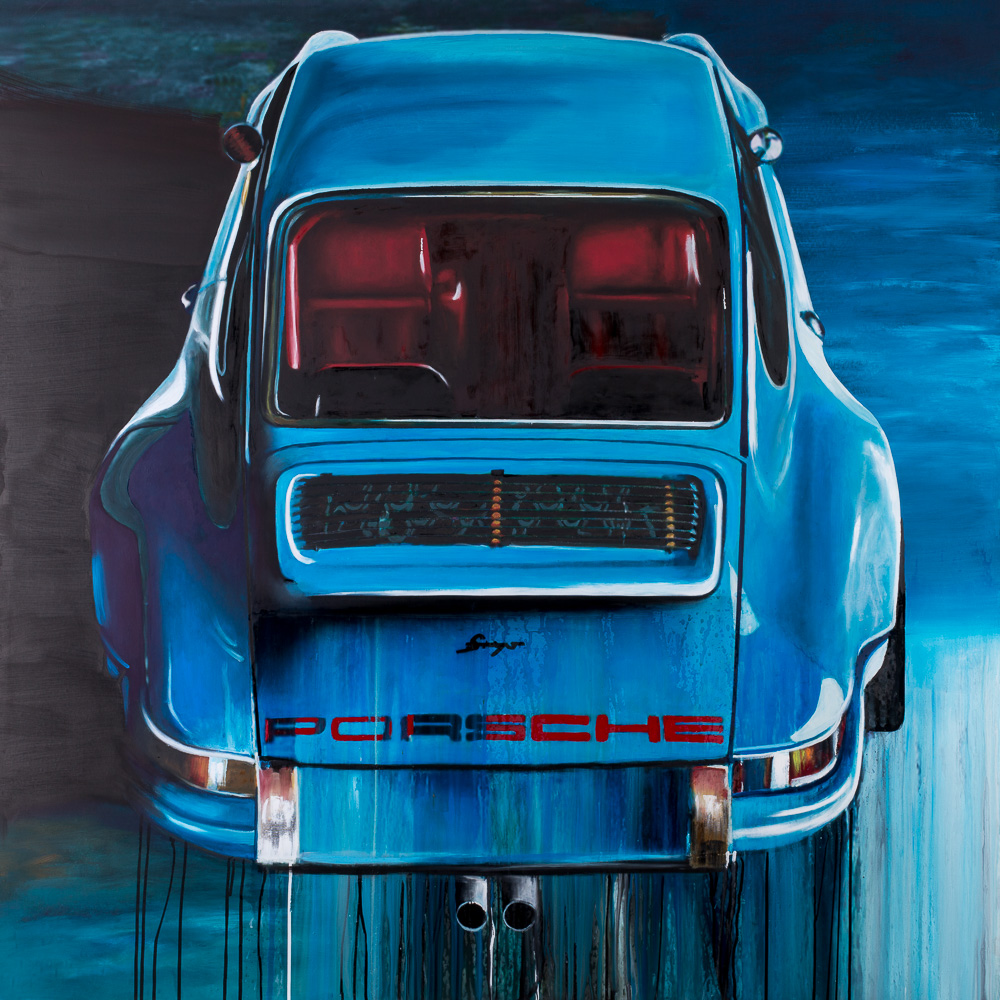Oil painting Porsche 911 Singer Customized