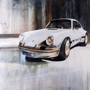 Oil painting Porsche 911 Extra Wide Body