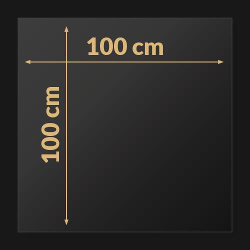 100 x 100 x 2 cm