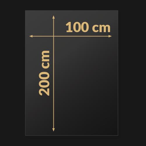 100 x 200 x 2 cm