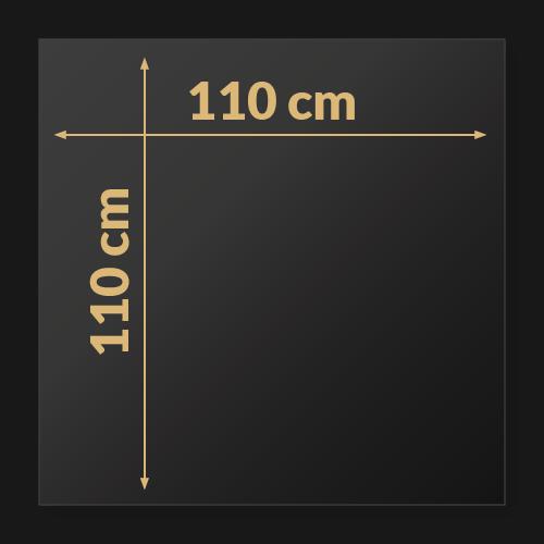 110 x 110 x 2 cm