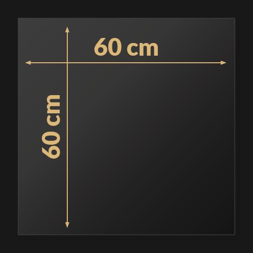 60 x 60 x 2 cm