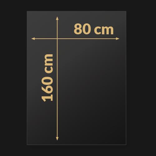 160 x 80 x 0,3 cm