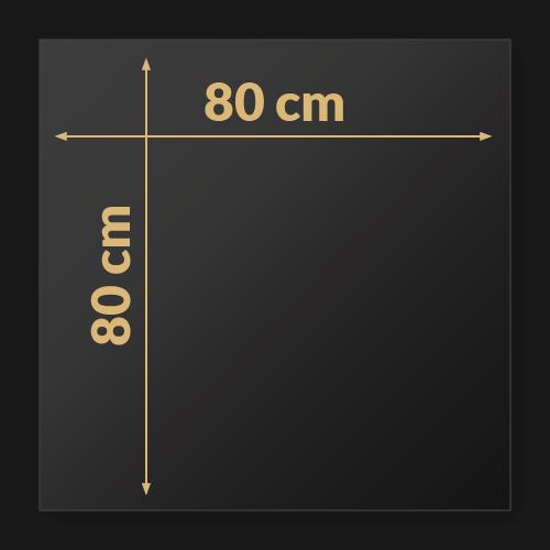 80 x 80 x 2 cm